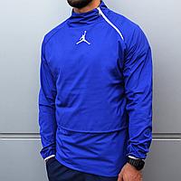 Куртка анорак ветровка мужская Jordan синяя