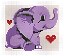 АМД-114. Алмазная мозаика Счастливый слоненок. 12х14см
