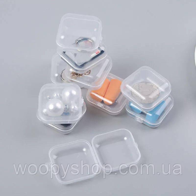Мини контейнер пластиковый прозрачный на 1 отделение