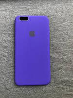 Силиконовый чехол Apple Silicone фиолетовый iPhone 6+ / 6s plus Soft touch purple Люкс качество чехлы на айфон
