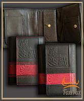 Кожаное мужское портмоне ручной работы, фото 1