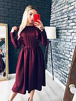 Нежное строгое платье с рюшами, фото 1