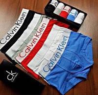 Акция! Мужские трусы Calvin Klein steel 5шт по Супер цене в подарочной упаковке мужское нижнее белье