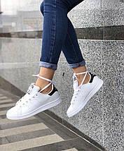 Женские и мужские кроссовки Adidas Stan Smith White/Black, фото 3