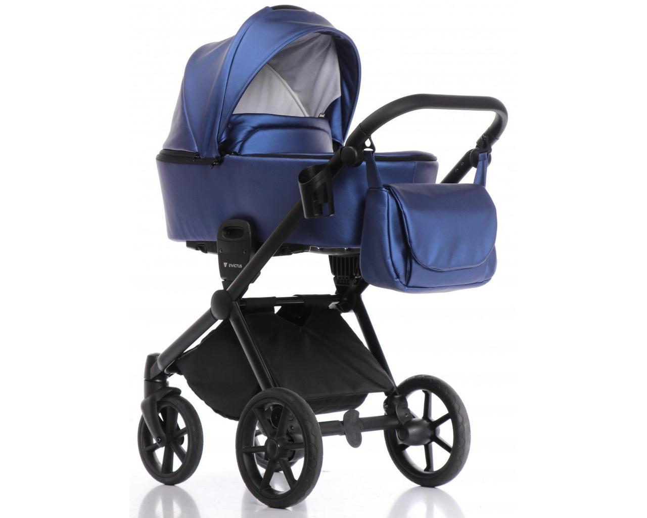 Дитяча коляска 2 в 1 Invictus V-Dream Lux Blue With Black