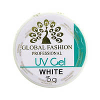 Гель белый Global Fashion UV gel 15 грамм, фото 1