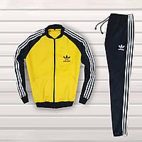 Мужской спортивный костюм в стиле Adidas Черный с желтым, фото 1