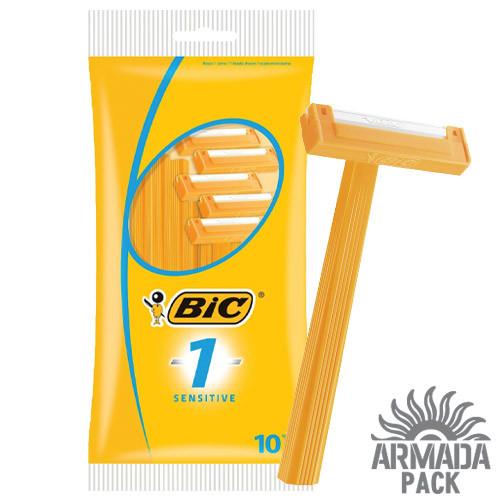 """Станок для бритья мужской  """"BIC 1 Sensitive"""", 10 шт"""