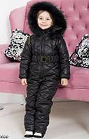 Комбинезон детский зимний теплый плащевка на синтепоне на рост 86-116 см
