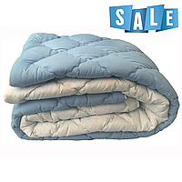 Двуспальное одеяло микрофибра/холофайбер ОДА 175см на 210см голубое, фото 1