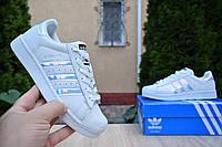 Adidas SuperStar белые кроссовки женские адидас кросовки кеды