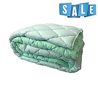 Двуспальное одеяло микрофибра/холофайбер ОДА 175см на 210см мятное