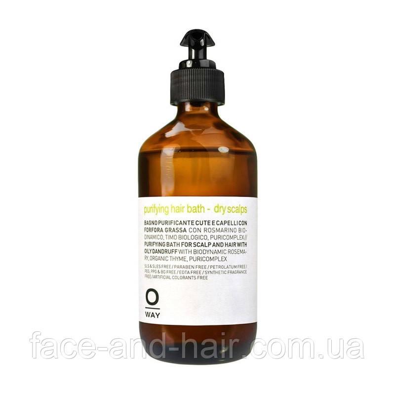Шампунь от перхоти для жирной кожи головы Rolland Oway Purifying Hair Bath Oily Scalps 240 мл