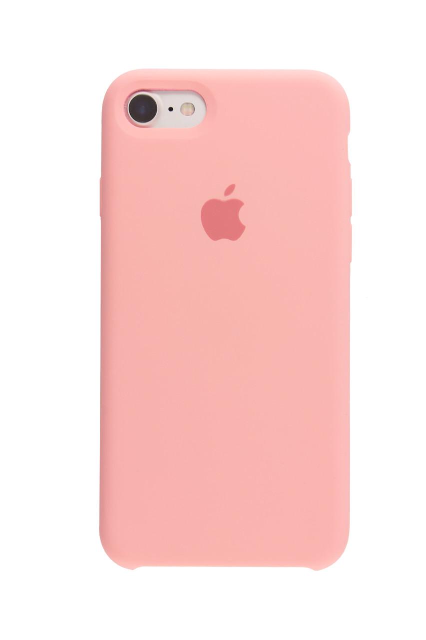 Чехол накладка silicone case для iphone 8 - pink