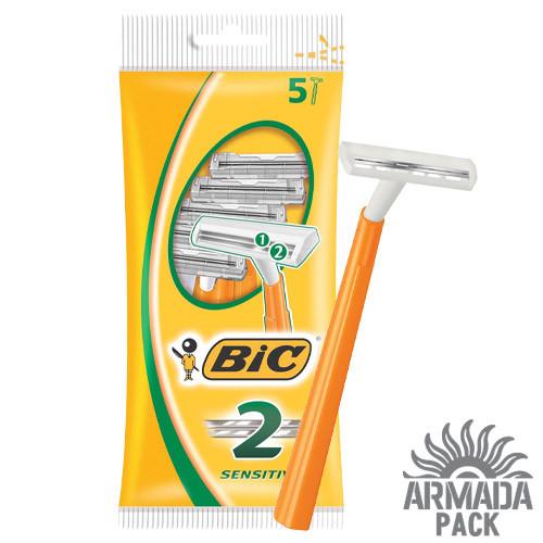 """Станок для бритья мужской """"BIC 2 Sensitive"""", 5 шт"""
