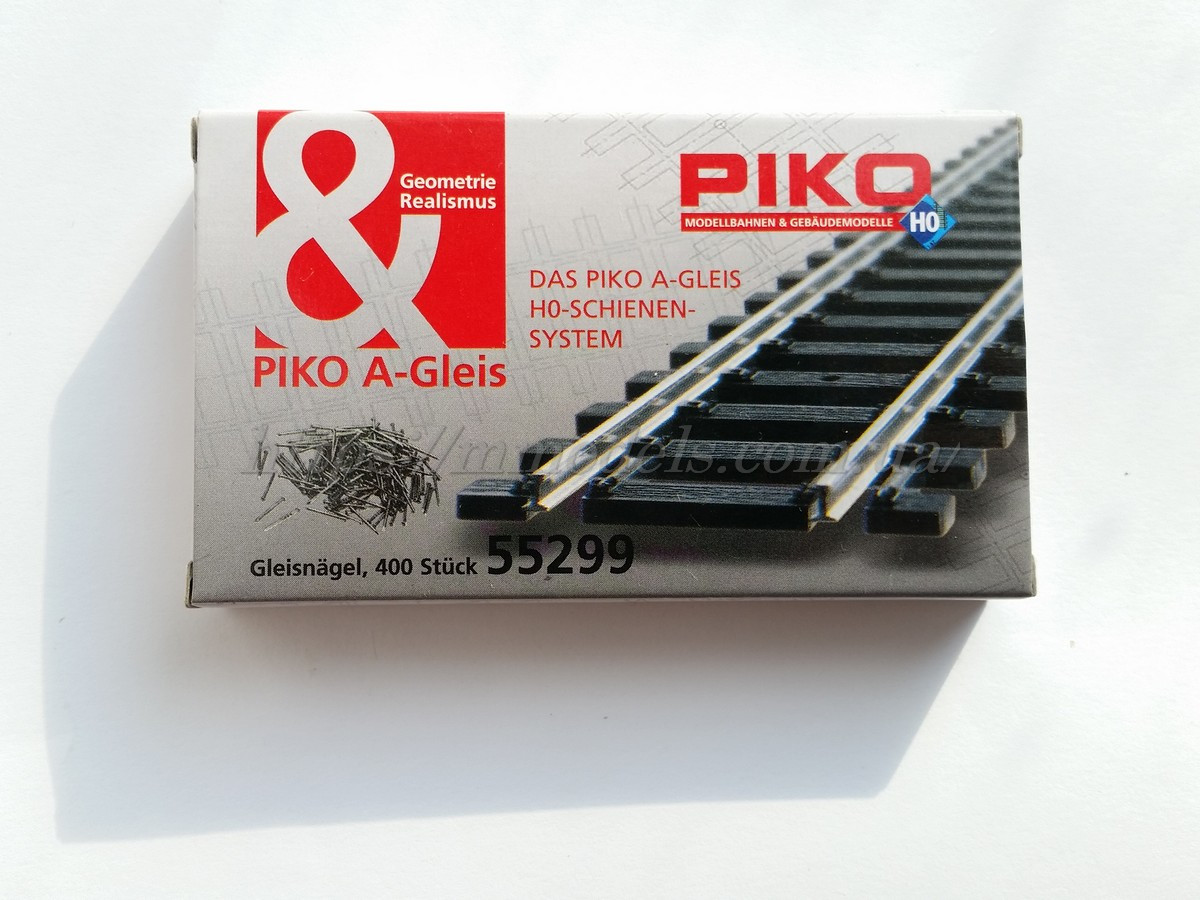 Piko 55299 Комплект гвоздей для крепления рельс Piko A-Gleis  комплект 400 шт / 1:87