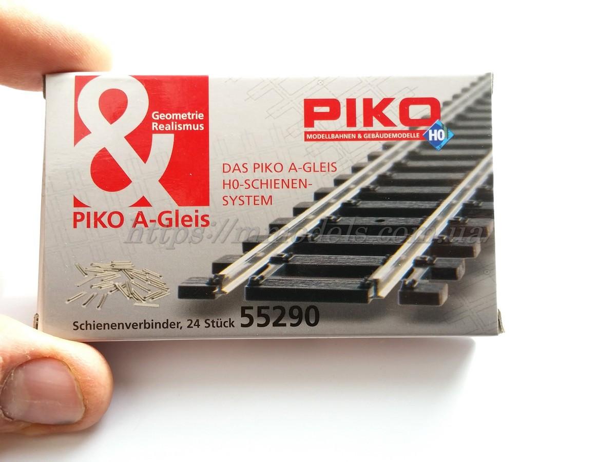Piko 55290 Комплект соединителей для крепления рельс Piko A-Gleis  комплект 24 шт / 1:87