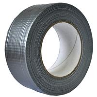 Армированная клейкая серая лента 24 мм х 10 м х 150 мкм