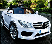 Детский электромобиль Мерседес M 3981 EBLR-1, белый, колеса EVA, кожаное сидение, пульт, SD, USB.