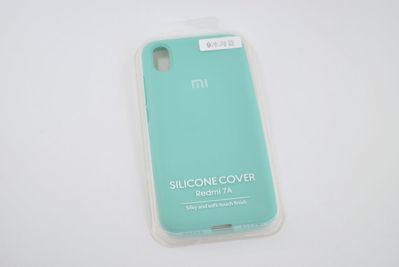 Чехол Xiaomi Redmi 7A Silicone Case original azure FULL №9