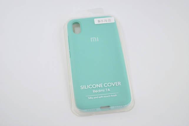 Чехол Xiaomi Redmi 7A Silicone Case original azure FULL №9, фото 2