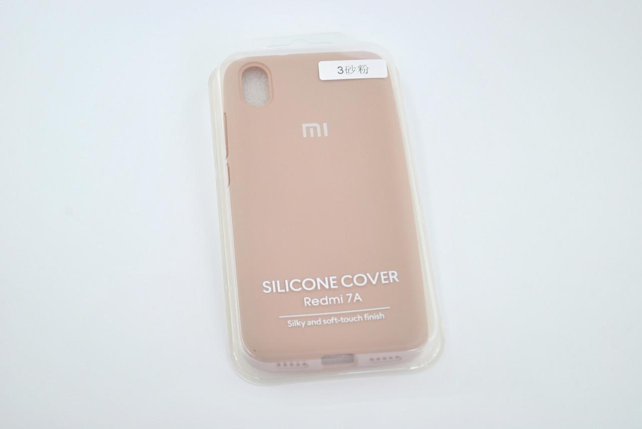 Чехол Xiaomi Redmi 7A Silicone Case original pink sand FULL №3
