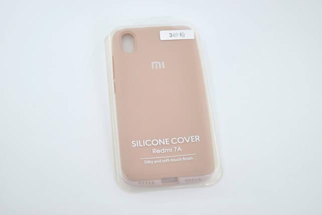 Чехол Xiaomi Redmi 7A Silicone Case original pink sand FULL №3, фото 2