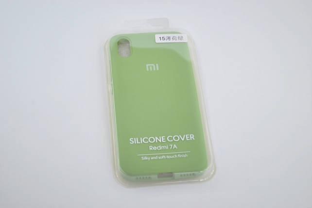 Чехол Xiaomi Redmi 7A Silicone Case original green FULL №15, фото 2