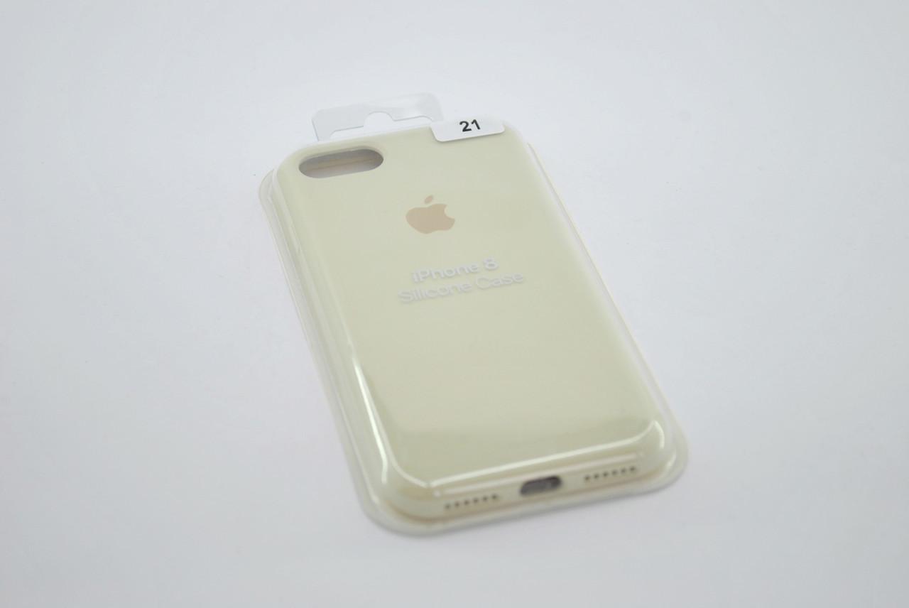 Чехол iPhone 7+ /8+ Silicone Case original antique white FULL №21
