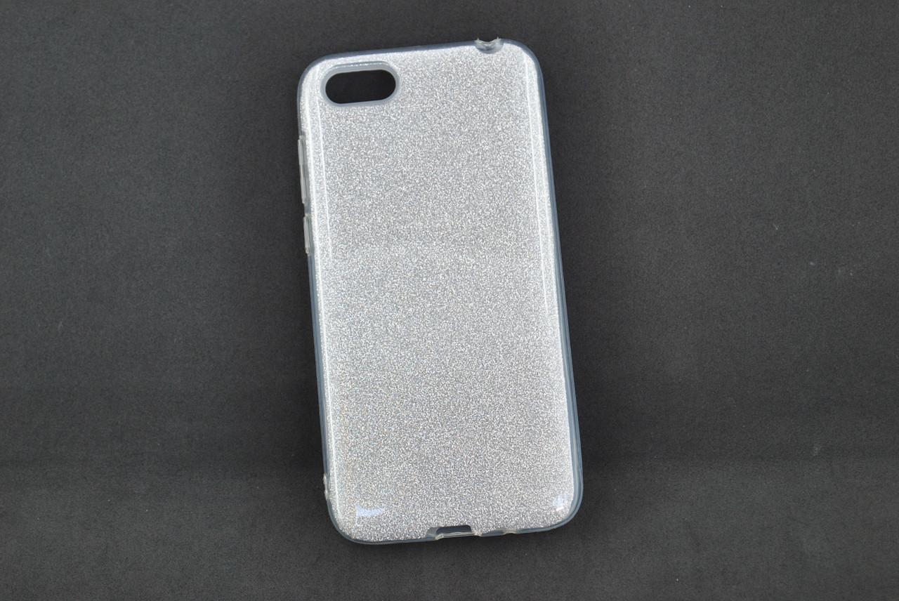 Чехол Xiaomi Redmi 6 Silicon Baseus Glitter Silver