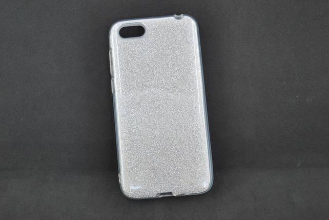 Чехол Xiaomi Redmi 6 Silicon Baseus Glitter Silver, фото 2