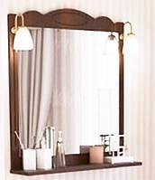 """Зеркало Аква Родос """"Классик"""" с полкой и подсветкой 80 см."""