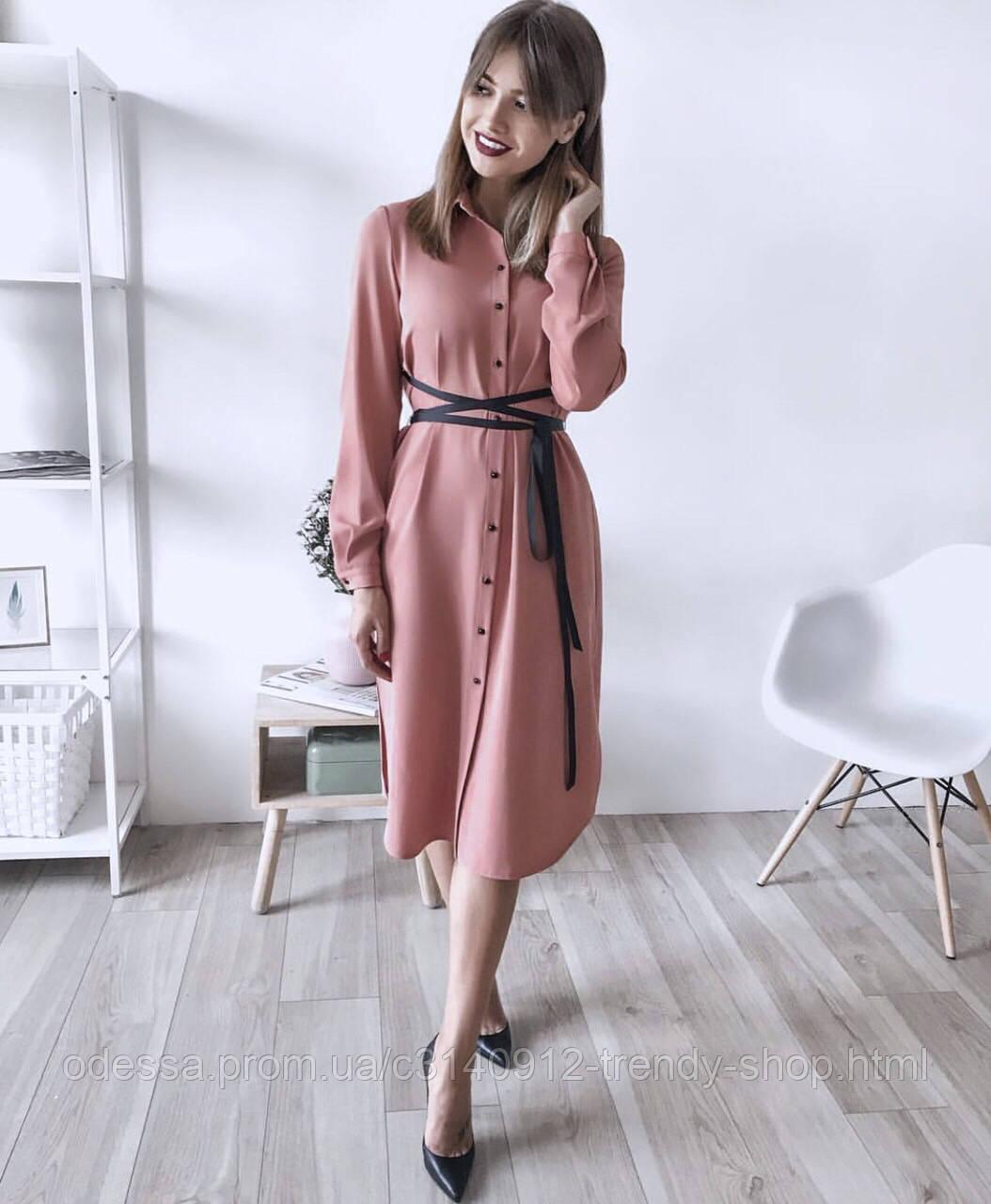 Платье женское с поясом марсала,бежевое,пудра,фиолетовое