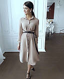 Платье женское с поясом марсала,бежевое,пудра,фиолетовое, фото 3