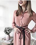 Платье женское с поясом марсала,бежевое,пудра,фиолетовое, фото 4