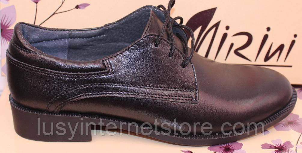Туфли черные кожаные женские от производителя модель РИ016-1М-2
