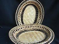 Тарелка из ротанга большая 33х27х5,5 см (40\35) (цена за 1 шт. + 5 гр.)