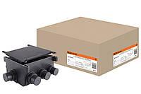 Коробка распаячная  СП 118х76х60мм, 8 вводов, черная, для заливки в бетон, IP44 TDM