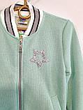 Спортивный костюм для девочки кофта на молнии и штаны трикотаж двухнитка размер: 122, 128, 134, 140, 146, фото 7