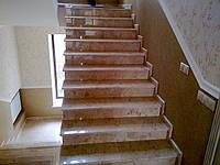 Облицовка лестничных маршей мрамором и гранитом