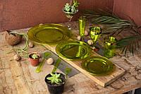 Посуда Capital For People пластиковая многоразовая плотная для пикника. Полная сервировка стола 84 шт 6 чел, фото 1