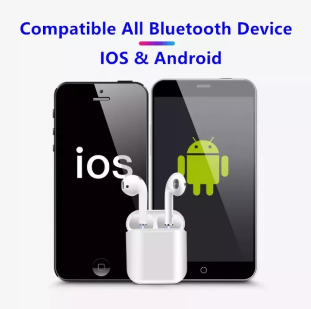 Беспроводные Bluetooth наушники Y-12 TWS | блютуз наушники | гарнитура | копия наушников Apple AirPods, фото 2