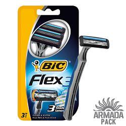"""Станок для бритья мужской """"BIC 3 Flex"""", 3 шт"""