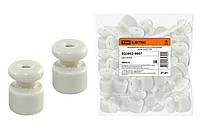 Керамический изолятор для ретро провода белый (25шт) TDM