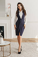 Платье-сарафан, №154,тёмно-синее