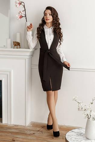 Платье-сарафан, №154, чёрный, фото 2