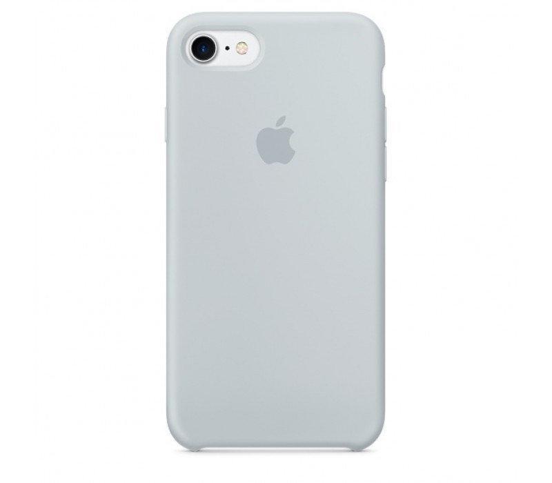 Чехол накладка silicone case для iphone 8 - mist blue