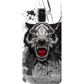 Чехол на Samsung Galaxy A8 2018 Angry Wolf