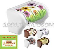 Пластиковый держатель для туалетной бумаги с рисунком Герберы, Elif Plastik