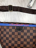 Красива Жіноча бананка Louis Vuitton коричнева Туреччина Якість поясна сумка на пояс VIP Луї Віттон репліка, фото 2
